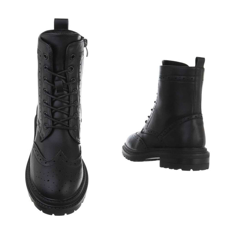 """BLACK IRIS"" Ankle Boots"