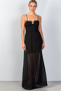 Lace Trim Bustier Maxi Dress