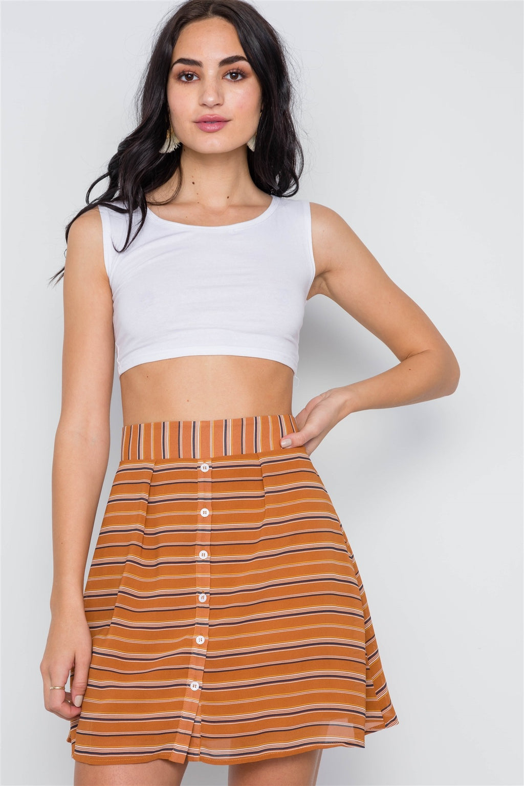 Carime High Waist Mini Skirt