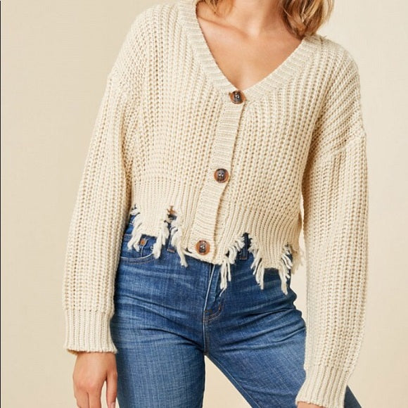 Olivia Cropped Button Up Cardigan