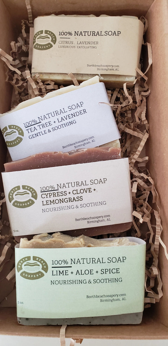 Natural Soap Gift Sampler (4 x 2.5 oz. bars)