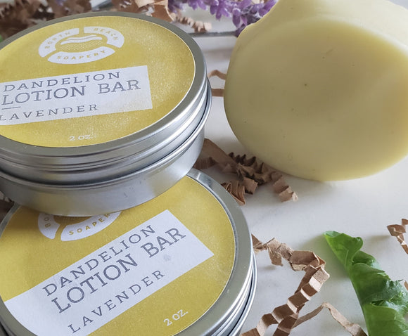 LOTION BARS - Dandelion + Lavender