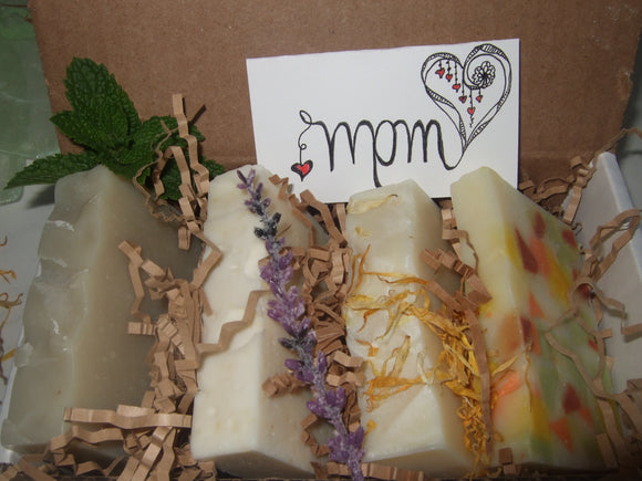 GIFT SET - 4 Assorted Natural Soap Bars