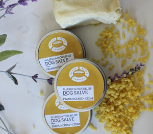 Dog First-Aid Salve Itch RELIEF- FRANKINCENSE + CEDARWOOD