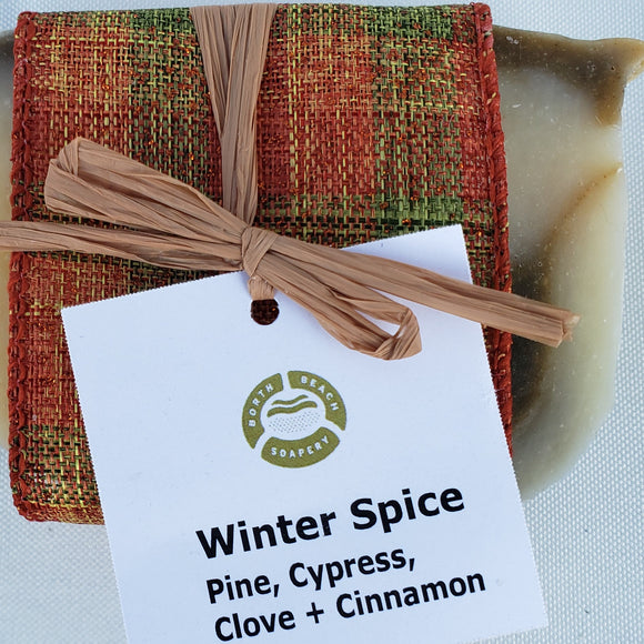 Soap Bar - WINTER SPICE Cinnamon, Pine, Cypress, Clove, Sweet Orange