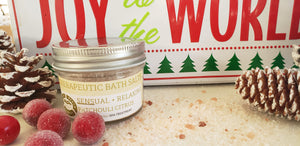STOCKING STUFFER - BATH SALTS  - Patchouli + Bergamot + Sage