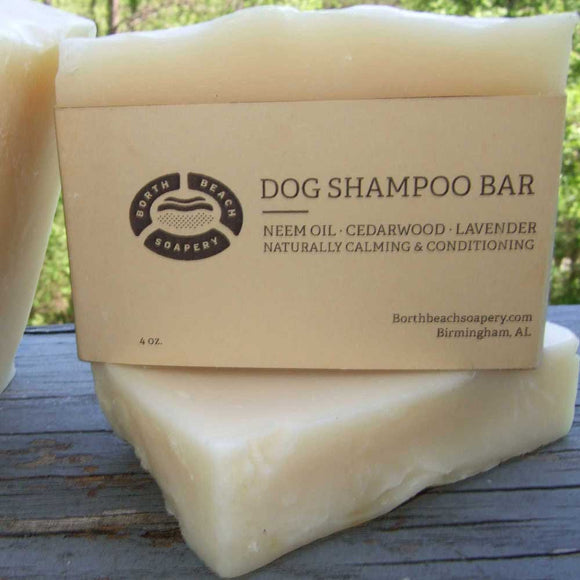 Dog Shampoo Bar - Neem Oil, Cedarwood, Lavender. Naturally Calming  and Conditioning