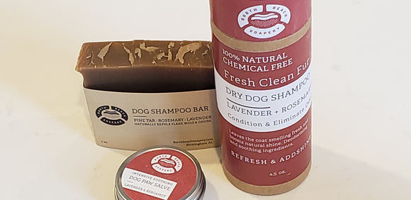 Dog Grooming Set- Soap + Powder + Salve