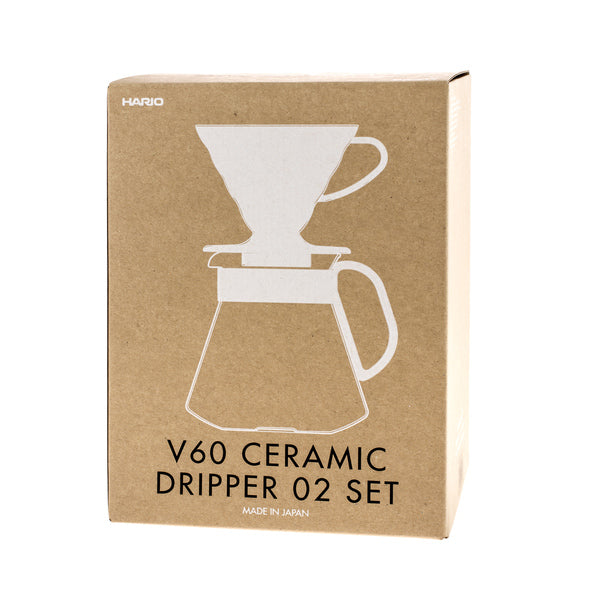 Hario Ceramic V60 Dripper & Pot White