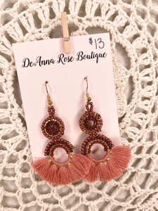 Miami Earrings (Mauve)