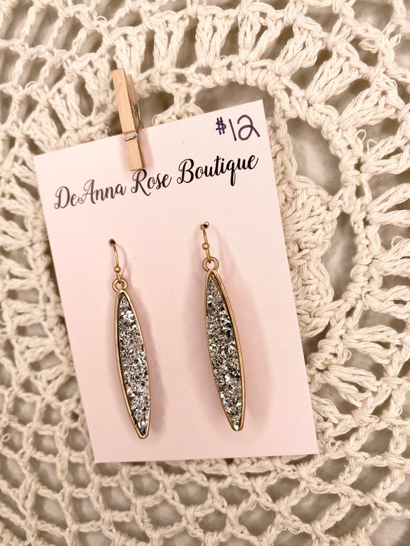 Daytona Silver Sparkle Earrings