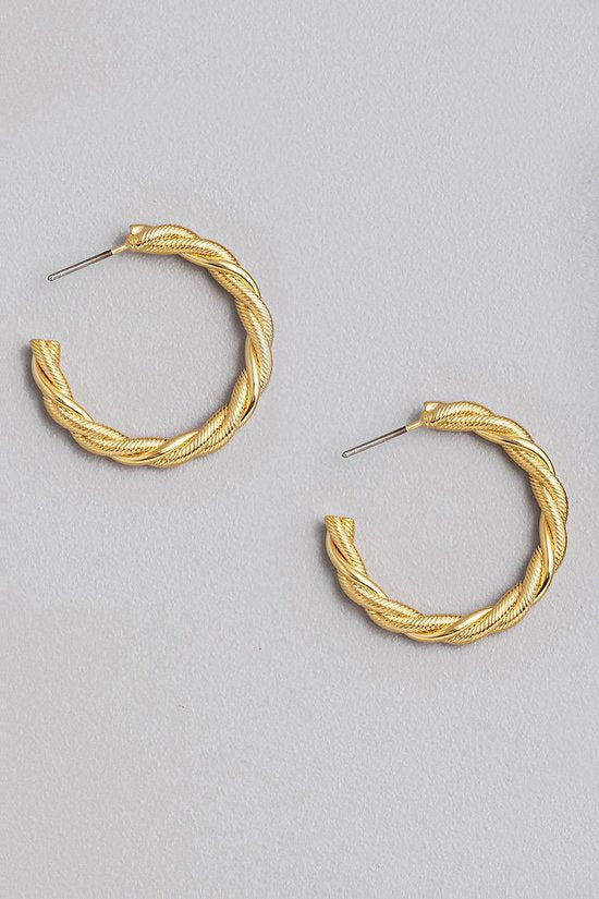 Gold Detail Hoops