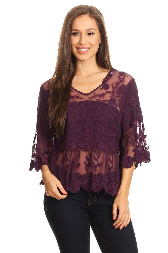 Lace Night Out Top