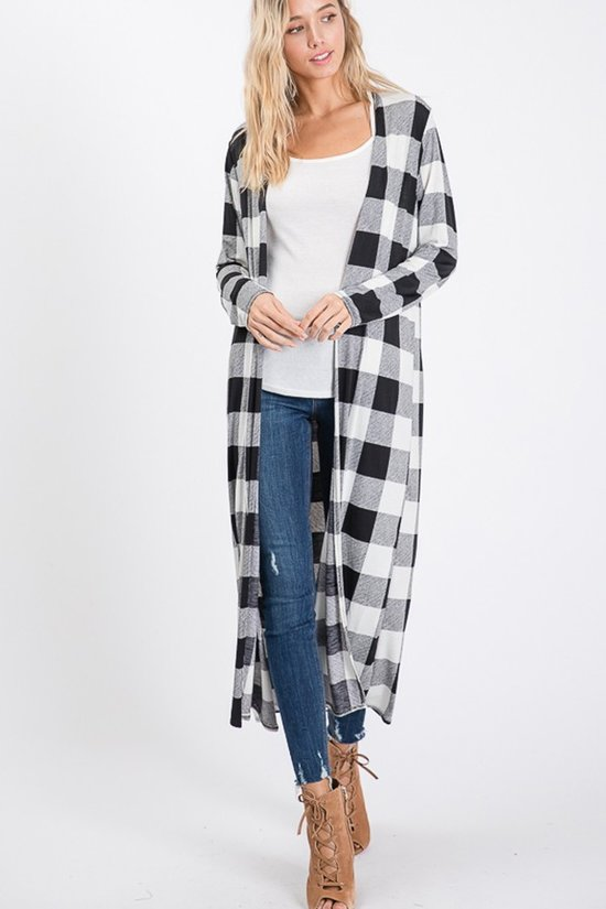 Plaid Cardigan