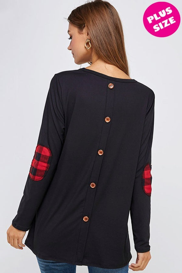 Extended Size Button Back Top