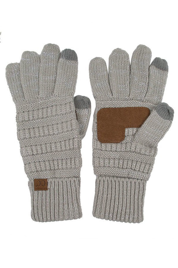 CC Gloves (Silver Metallic)