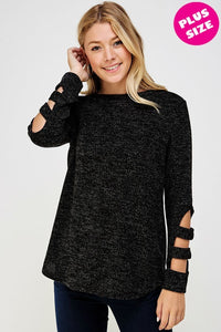 Extended Size Detail Top (Black)