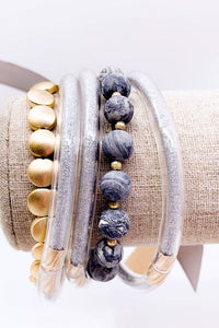 Stackable Bracelets (Grey)