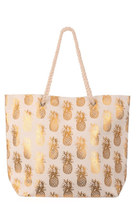 Pineapple Gold Beach Bag