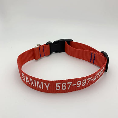 Dog Collar 1 line of text - BigTags.  Tag It's your!