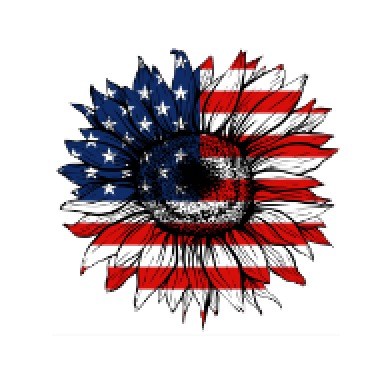 Patriotic Sunflower Sublimation