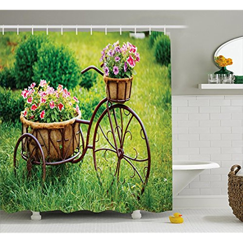 Beautiful SUMMER time Garden Shower Curtain