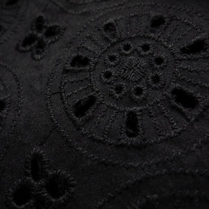Broderie anglaise - Circles black 0.5m