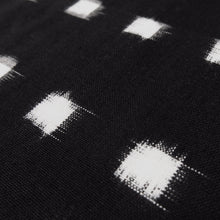 Load image into Gallery viewer, Cotton Ikat - Black + ivory windowpane 0.5m