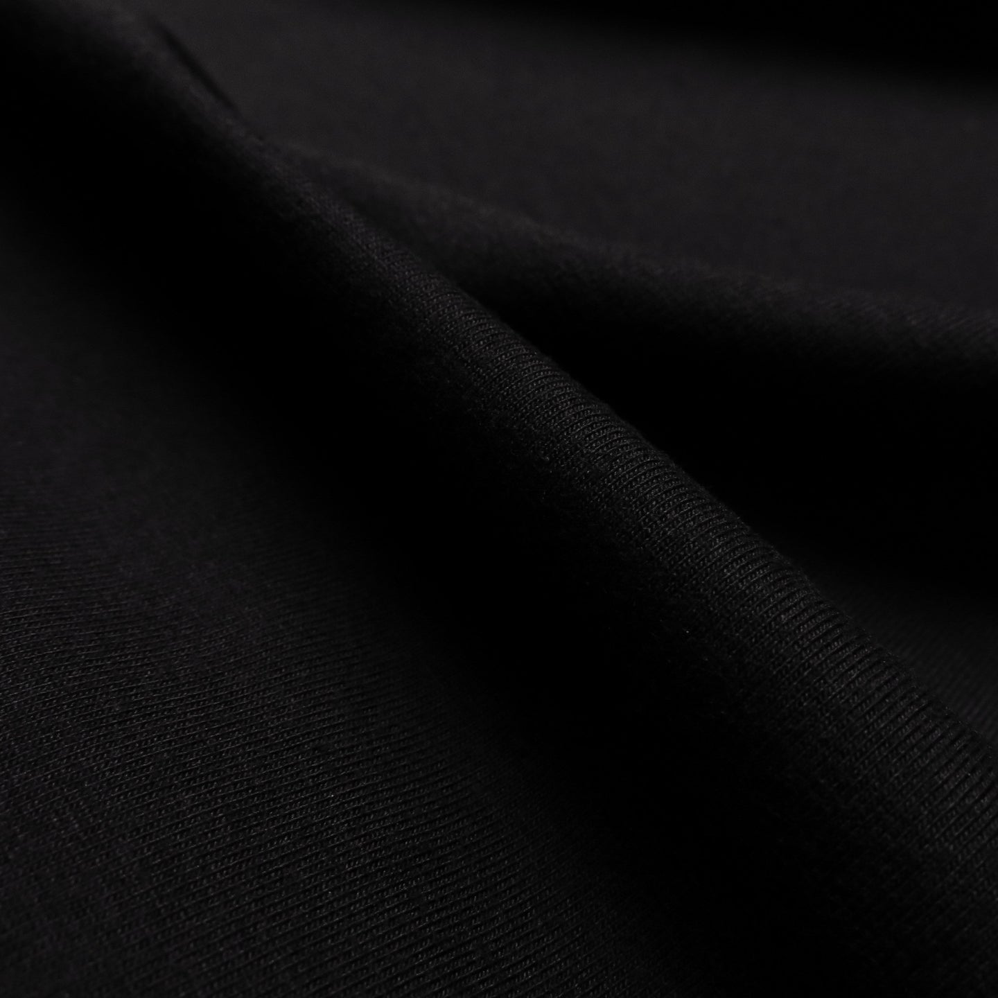 Organic cotton / elastane jersey - Black 0.5m
