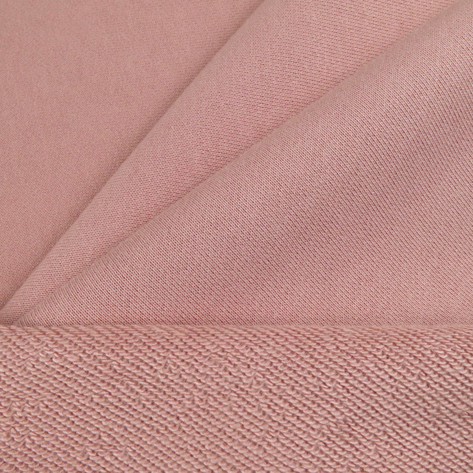 French terry 320gsm - Soft rose 0.5m