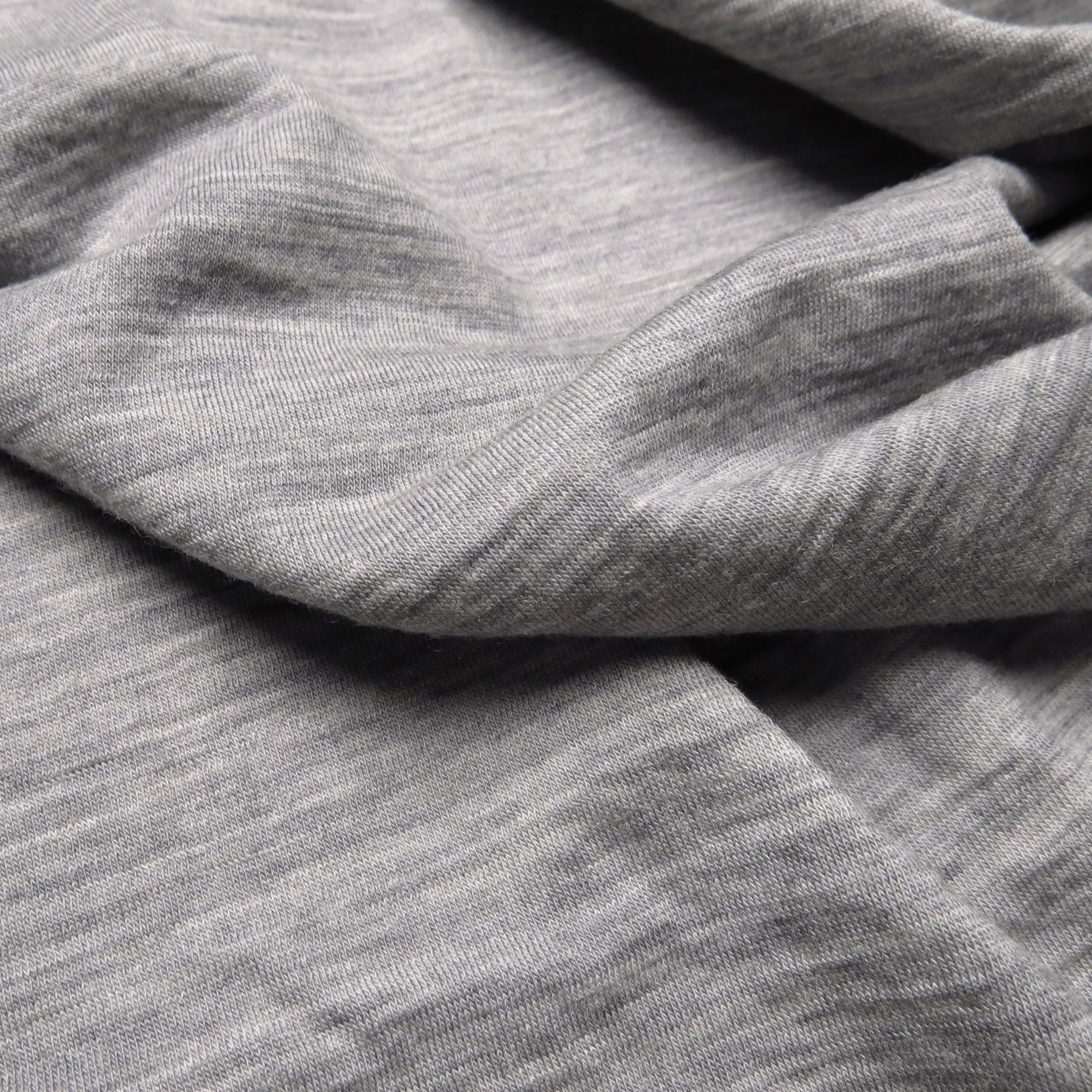 Australian Merino Single Jersey - Light Grey Marle