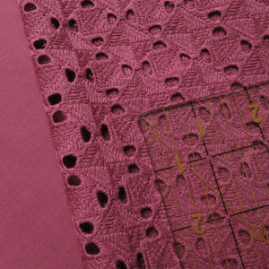 Broderie Anglaise - 'Maxine' in Raspberry Rouge 0.5m