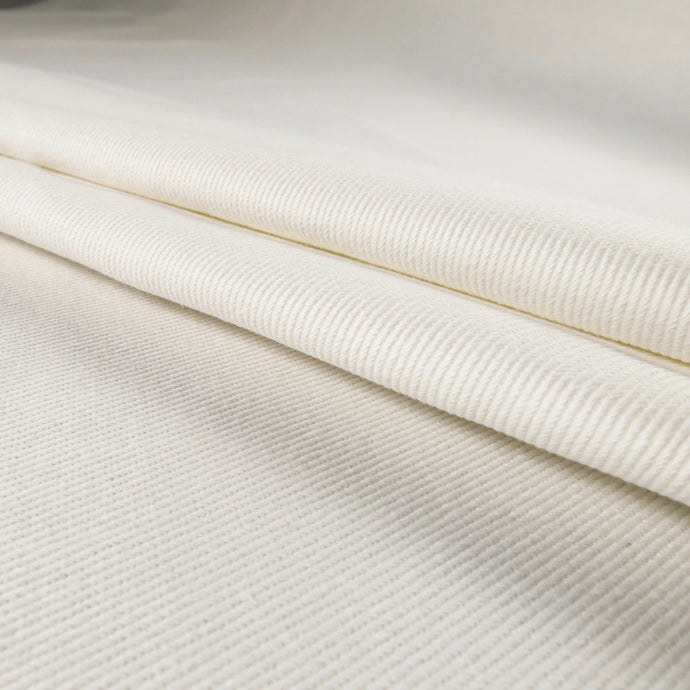 100% cotton twill - Soft white 0.5m
