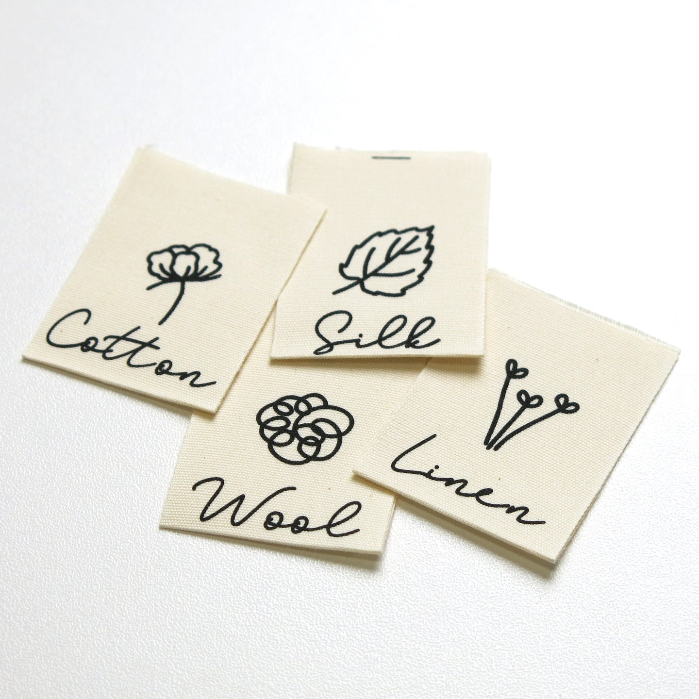 KATM - Natural fibres collection - pack of 8 cotton woven labels