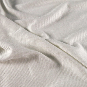 Rayon rib knit - Soft white 0.5m