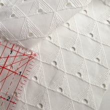 Load image into Gallery viewer, White broderie anglaise - geometric 0.5m
