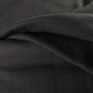 Cotton ribbing - Charcoal 0.25m
