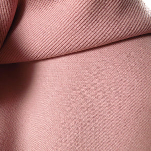 Cotton ribbing - Dusty Rose 0.25m