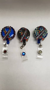 Autism Awareness Badge Reel Holder