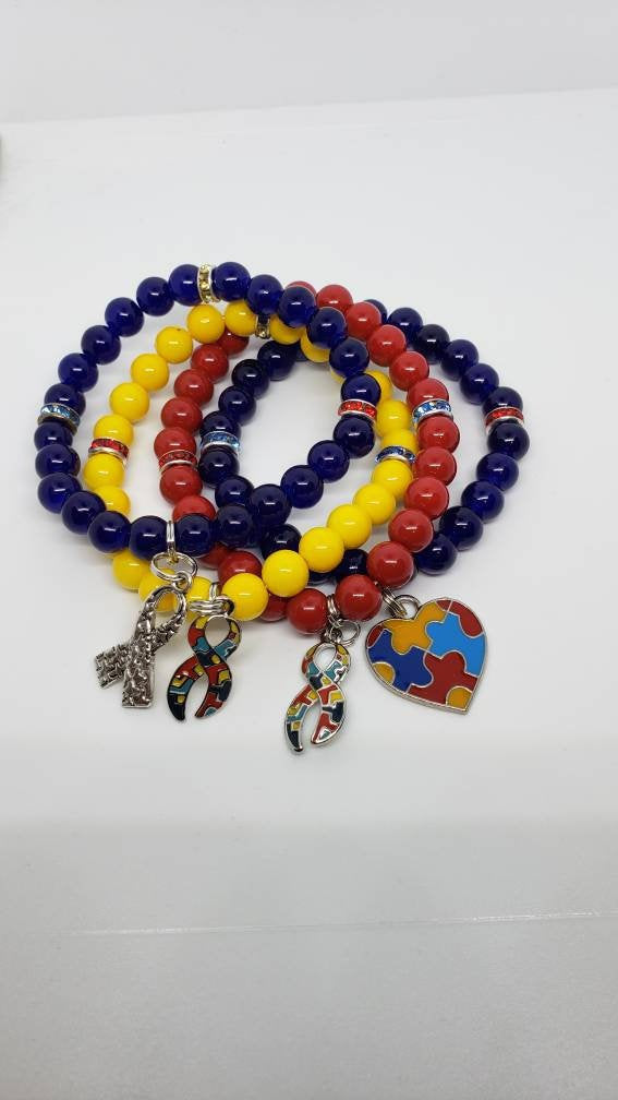 Autism Awareness Charm Bracelets