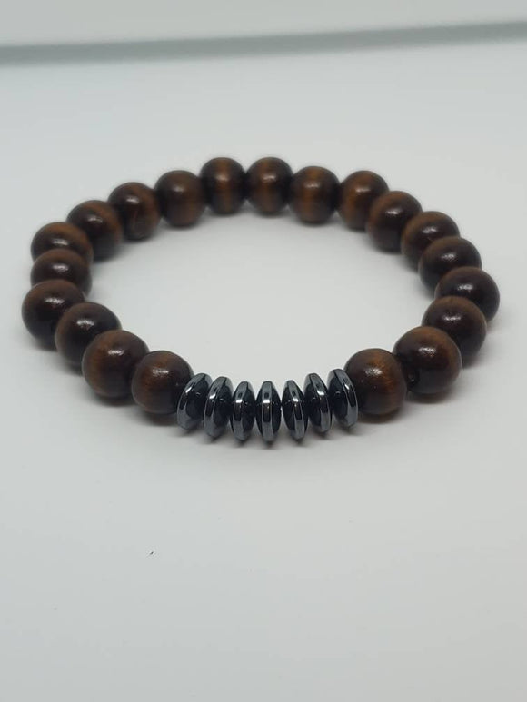 Brown Bracelet w/Hematite Spacers