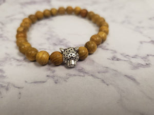 Brown Leopard Head Bracelet