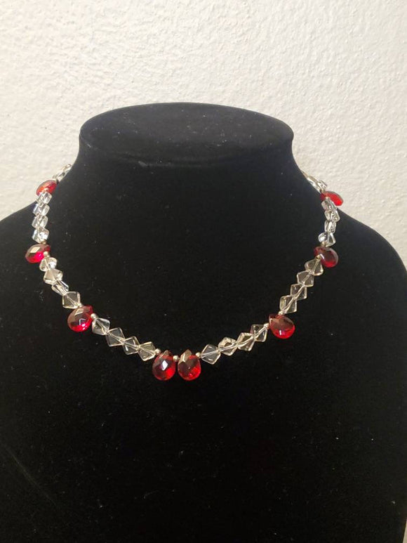 Red Tear Drop Necklace