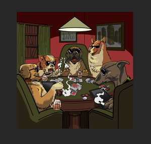 Dogs Playing Poker: PokerPaint Edition