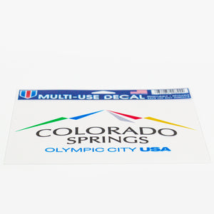 "Full Color Olympic City USA 5"" x 6"" Multi-Use Decal"