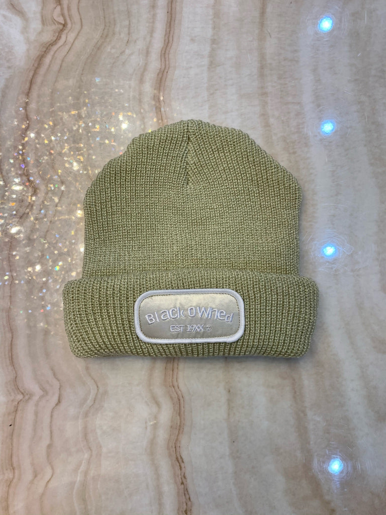 Cream Mechanic Beanie