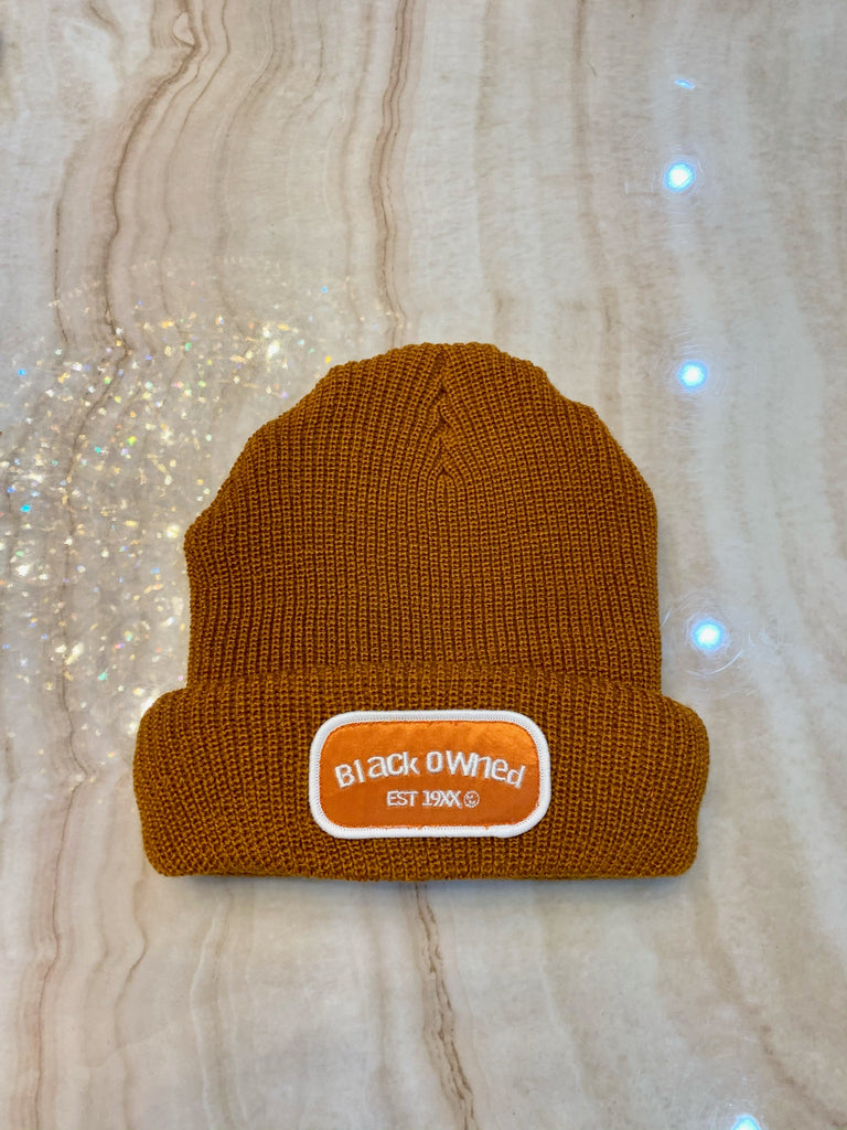 Autumn Orange Mechanic Beanie