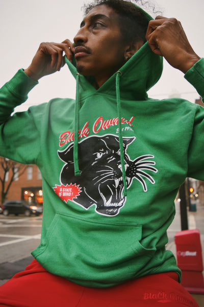 Vintage Panther Pullover Hoody (Green)