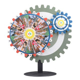 Gears Set Spin Wheel Tabletop