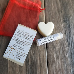 VALENTINE'S Gift Bag Heart Lotion Bar ++ Lavender / Citrus
